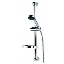 Barre de douche chromée avec flexible 1m50 et douchette marque Sopal