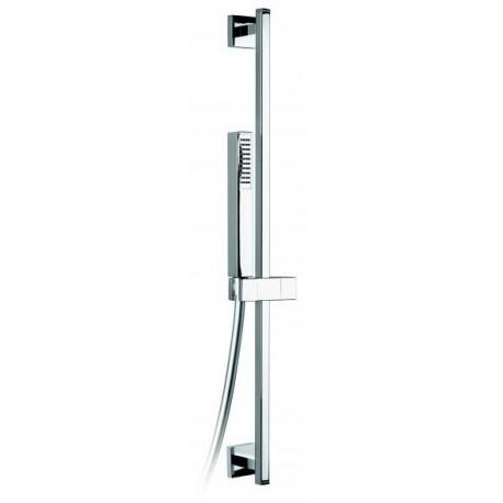 Barre de douche avec flexible 1m50 et douchette marque Sopal série Zarzis